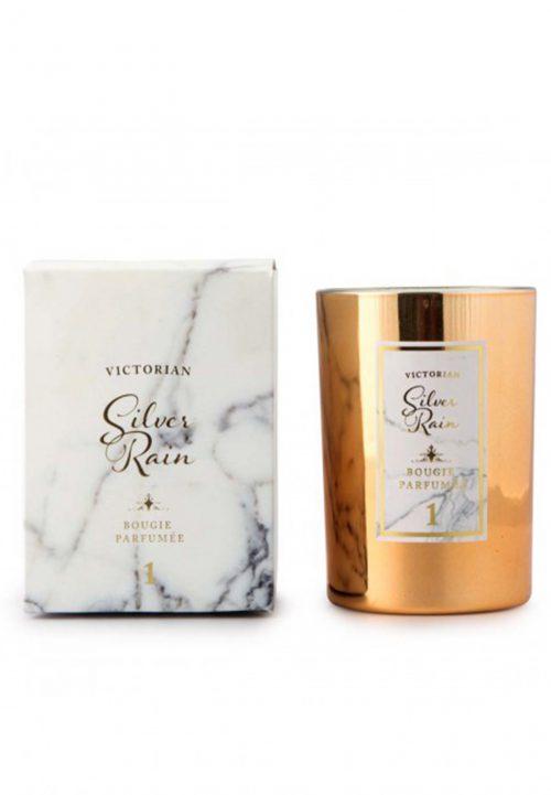 silver rain geurkaars victorian candle