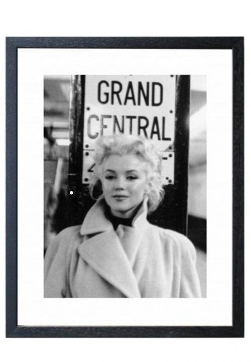 Marilyn monroe print zwart/wit schilderij