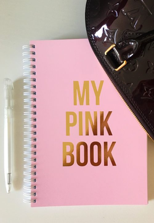 my pink book notebook studio stationary