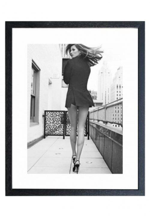 walk that walk schilderij The Soul Collection zwart/wit print