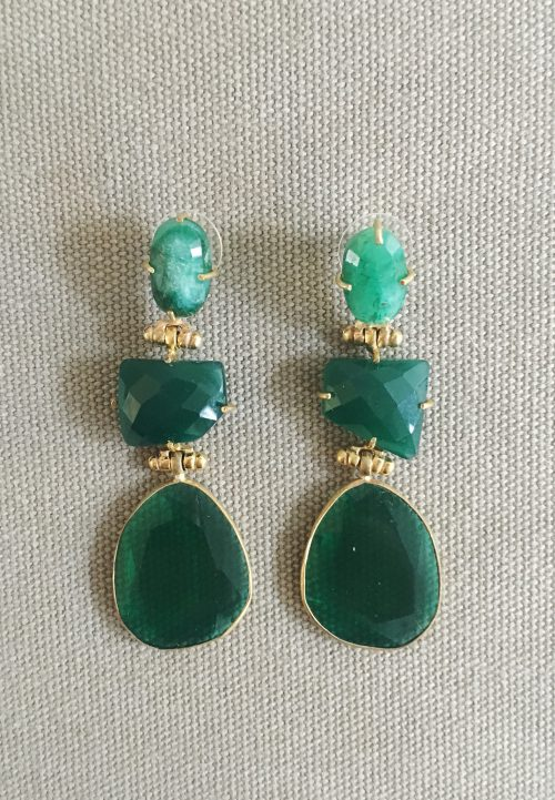 Emerald Gemstone Edelsteen BerNide Amsterdam Oorbellen