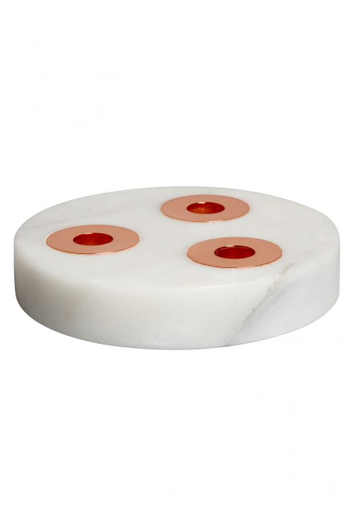 marble &klevering candle holder trio