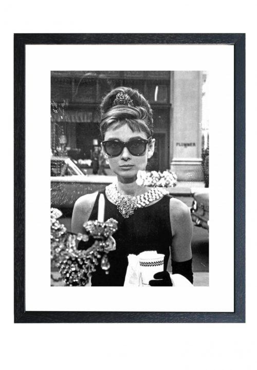 Audrey Hepburn Zwart wit fotoprint vintage
