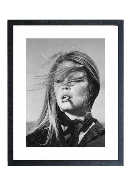 Brigitte Bardot smoking print schilderij