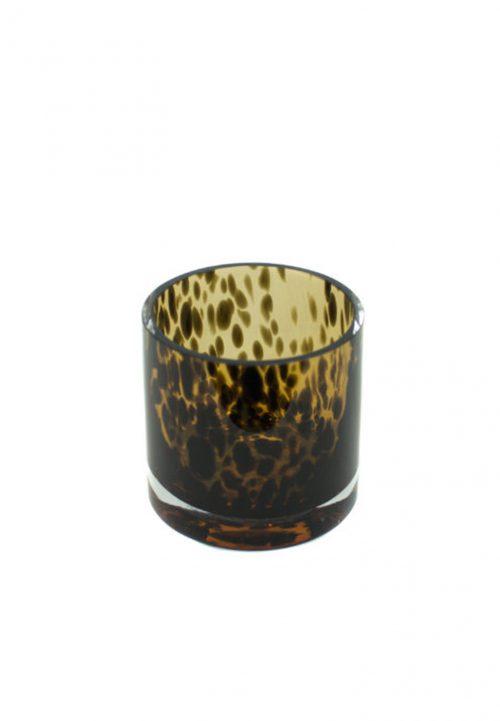 Fidrio leopard candleholder small
